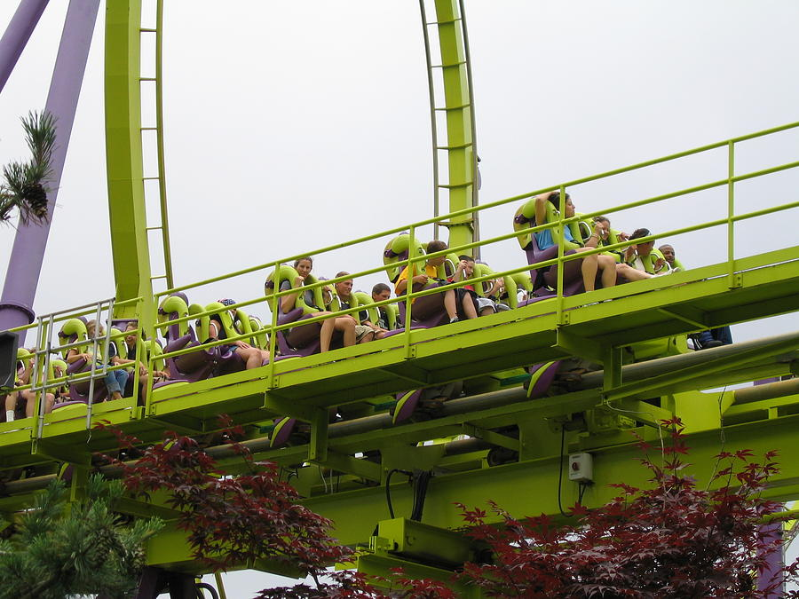 Six Photograph - Six Flags Great Adventure - Medusa Roller Coaster - 12121 by DC Photographer