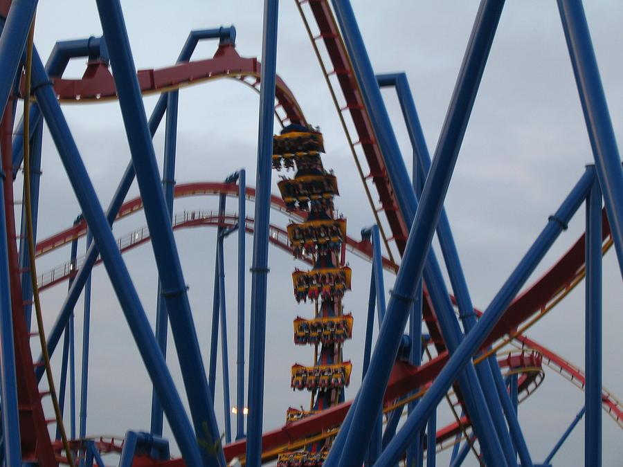 Six Flags Great Adventure - Medusa Roller Coaster - 12125 Photograph