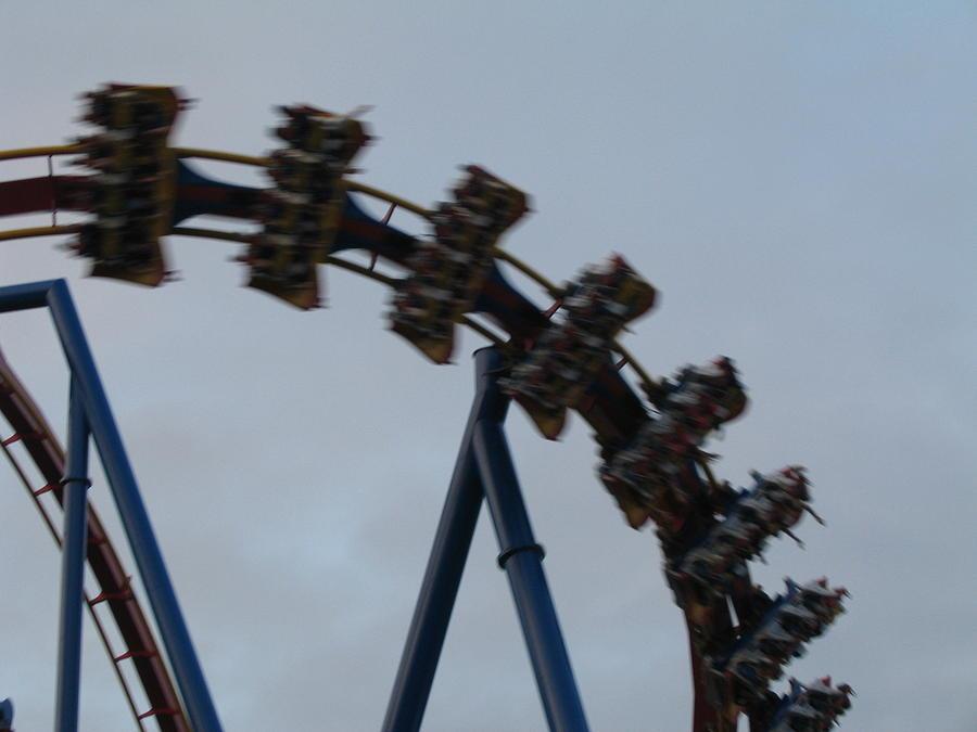 Six Photograph - Six Flags Great Adventure - Medusa Roller Coaster - 12126 by DC Photographer