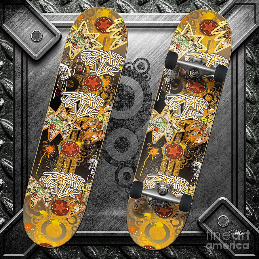 Skateboard Digital Art
