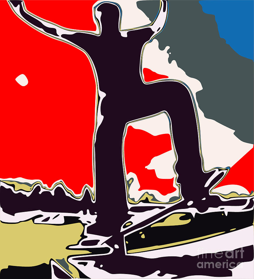 Skateboarder Digital Art