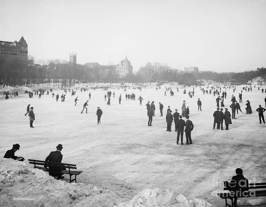 Skating In Central Park Photograph