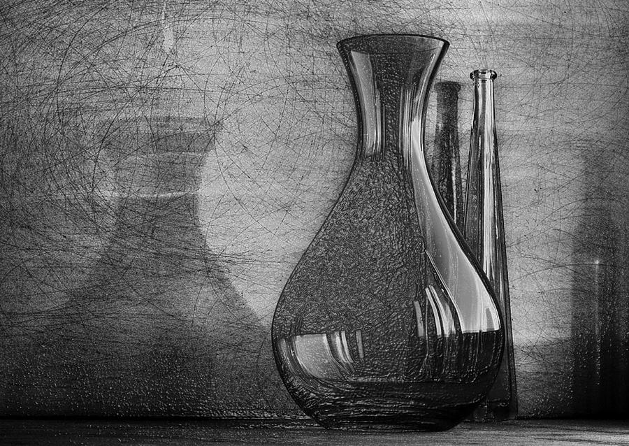 3d Black White Still Life wall art Sketch