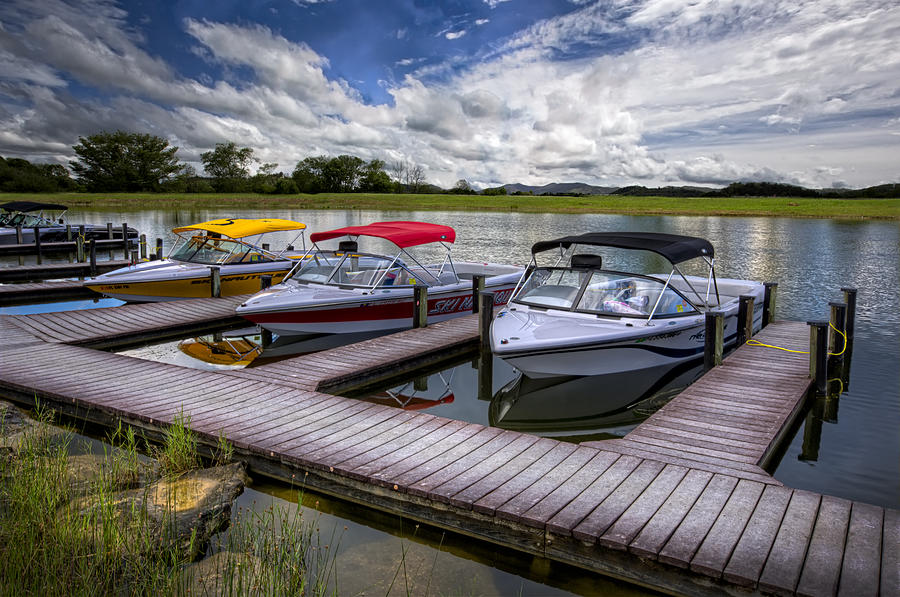 Boats Photograph - Ski Nautique by Debra and Dave Vanderlaan