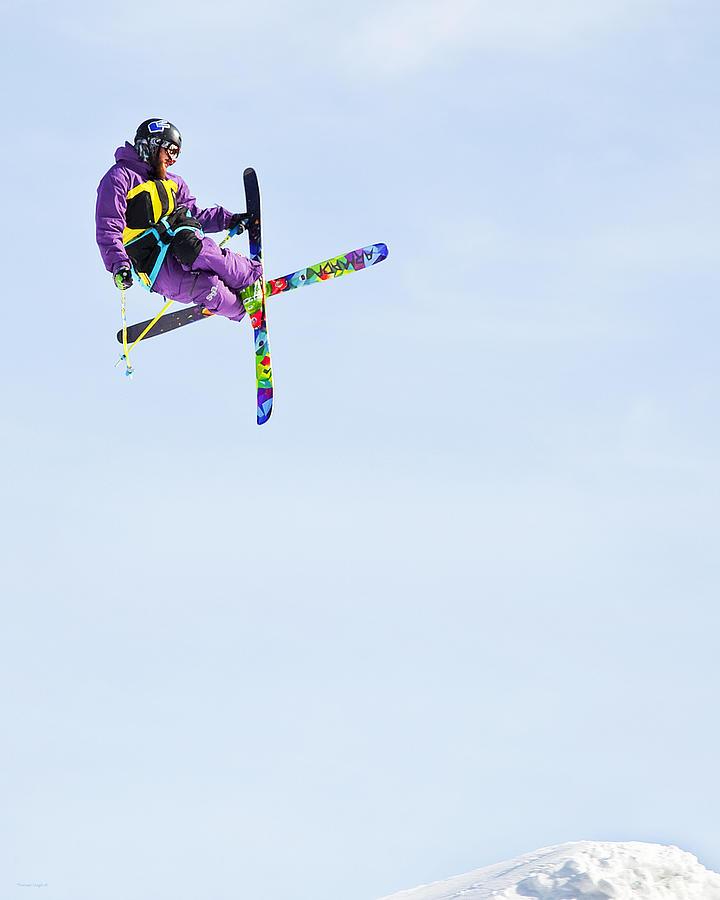 Skiers Photograph - Ski X by Theresa Tahara