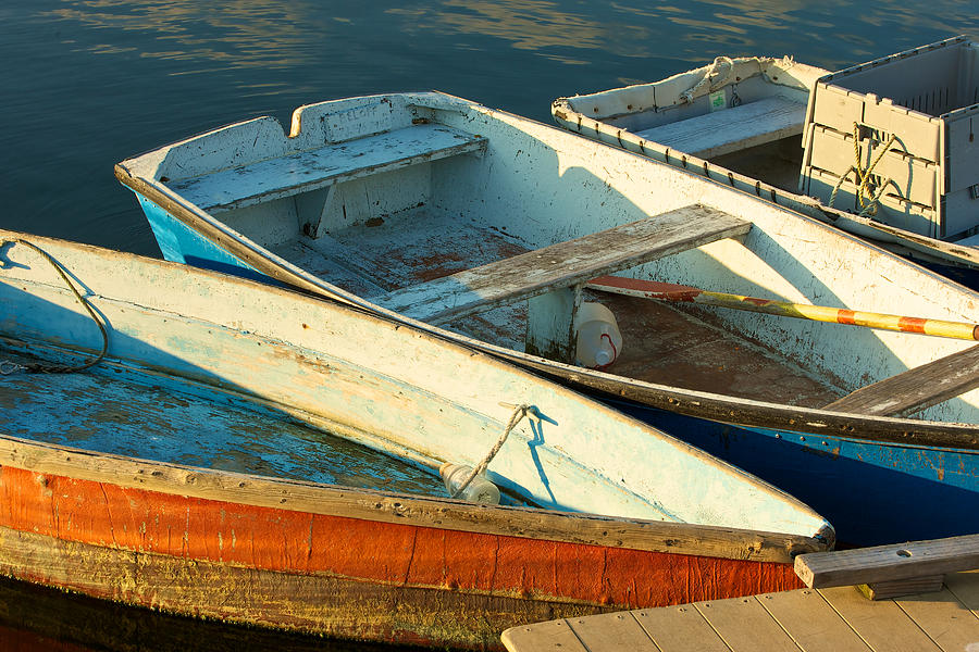 Skiffs Rockport Harbor Photograph