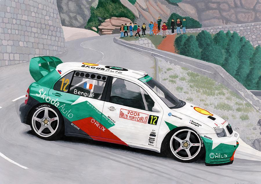 skoda fabia wrc rally car painting by milan surkala
