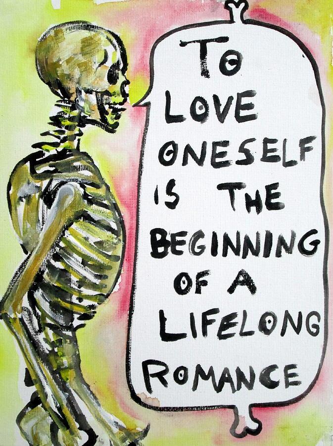 Skull Quoting Oscar Wilde.9 Painting