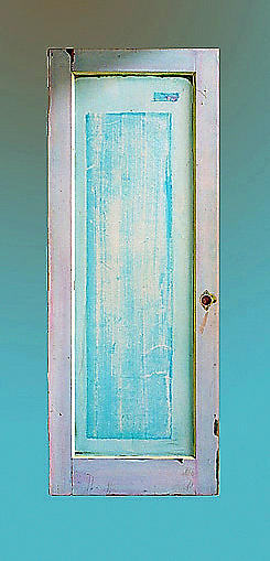 Door Painting Painting - Sky Beckons  Choice Is Yours  by Asha Carolyn Young and Daniel Furon