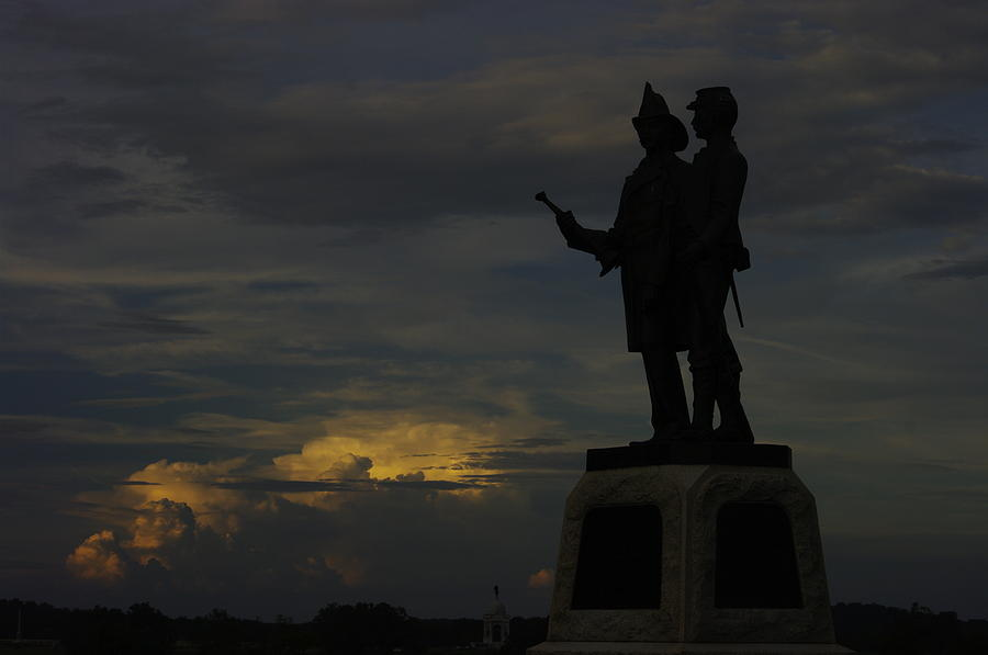 Sky Fire - 73rd Ny Infantry 4th Excelsior 2nd Fire Zouaves - Summer Evening Thunderstorms Gettysburg Photograph