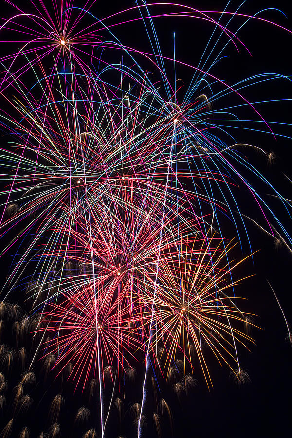 Sky Full Of Fireworks Photograph  - Sky Full Of Fireworks Fine Art Print