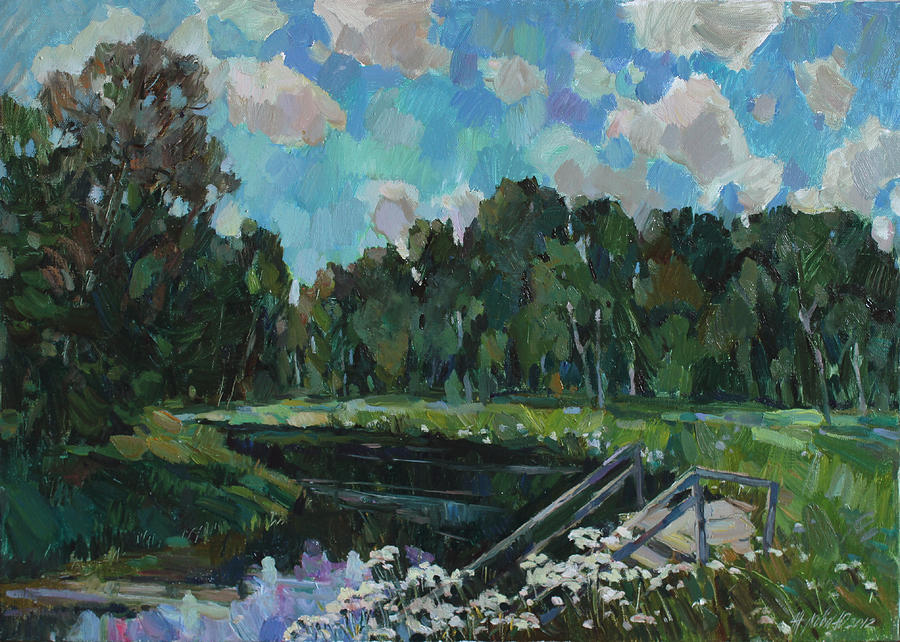 Sky In The River Painting  - Sky In The River Fine Art Print