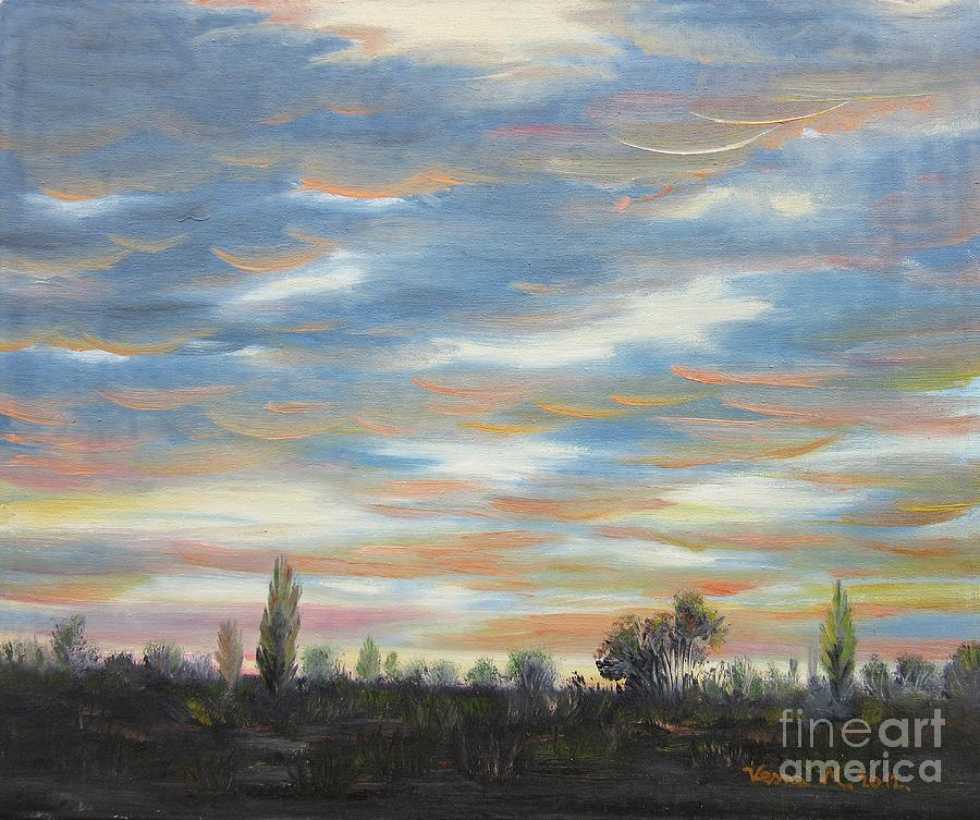 Landscapes Painting - Sky by Vesna Martinjak
