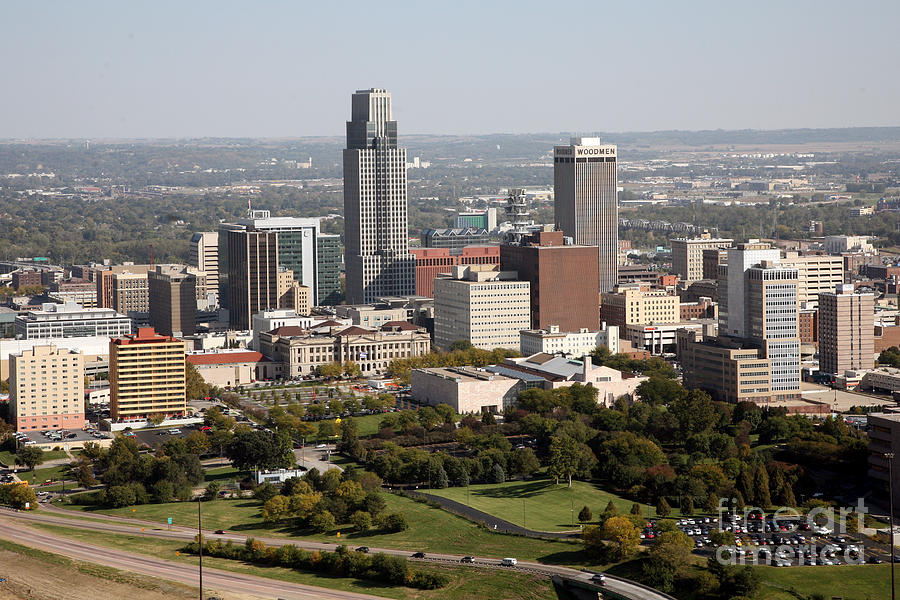 Skyline Of Omaha Nebraska Photograph By Bill Cobb