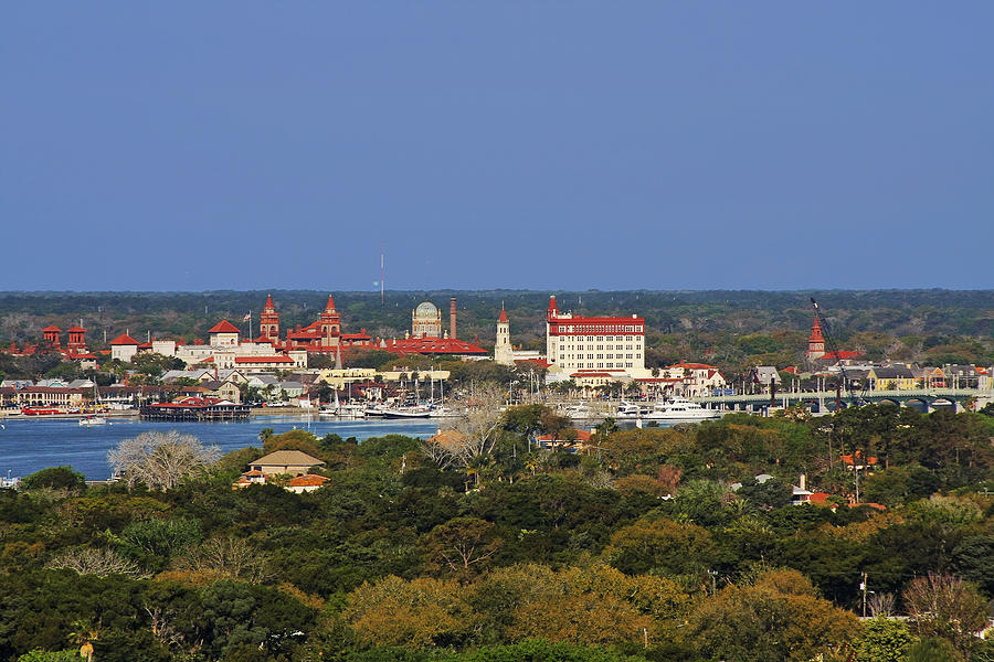 Skyline Of St Augustine Florida Photograph  - Skyline Of St Augustine Florida Fine Art Print
