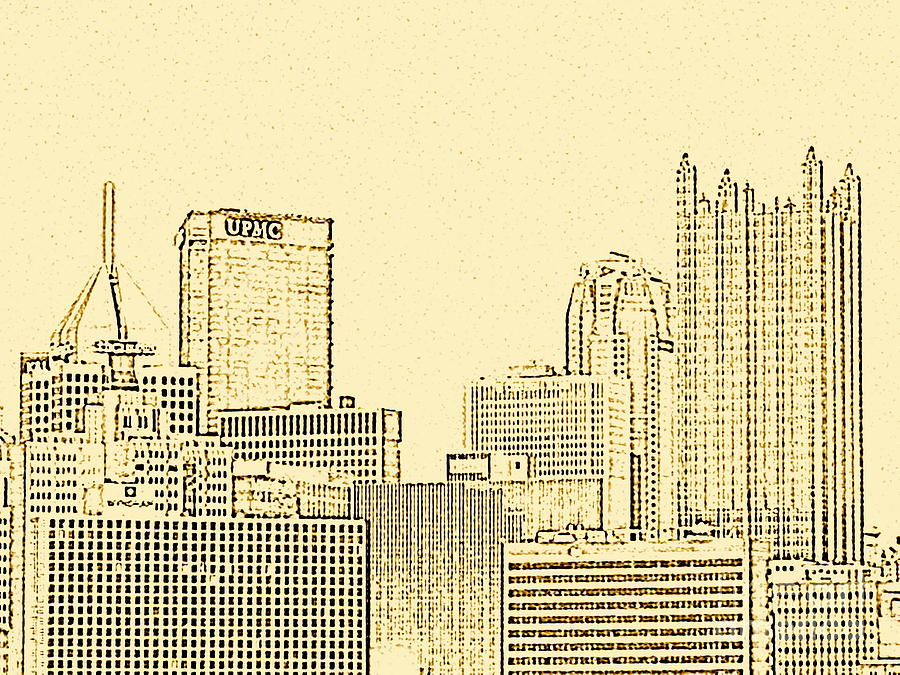 Skyline Sketch Photograph  - Skyline Sketch Fine Art Print