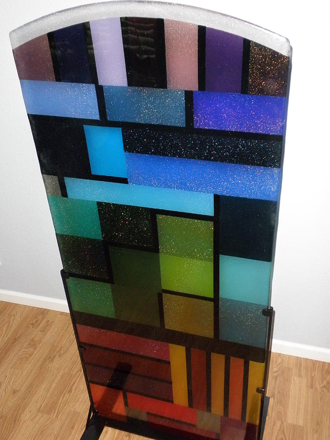 Abstract Glass Art - Skyscraper by T  Robert Darrough