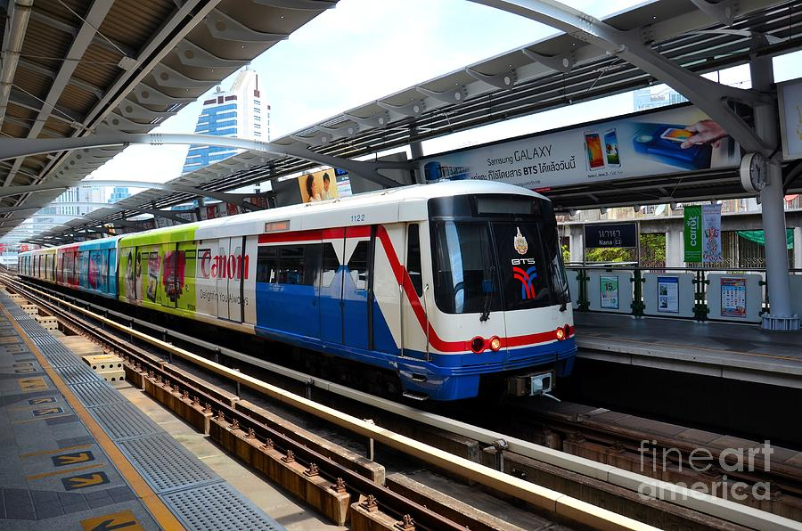 Skytrain Carriage Metro Railway At Nana Station Bangkok Thailand Photograph