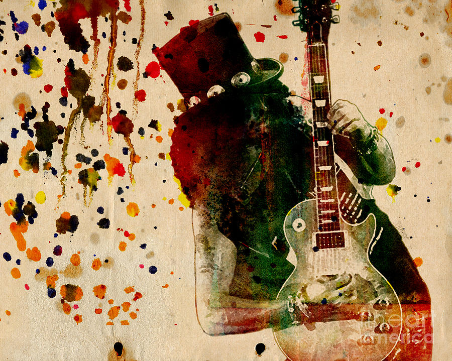 Slash - Watercolor Print From Original  Painting  - Slash - Watercolor Print From Original  Fine Art Print