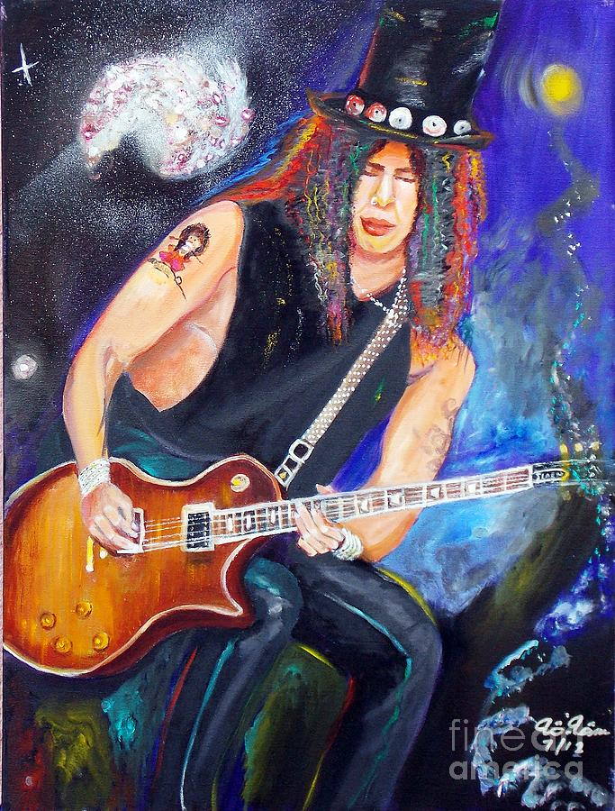 Slash 2 Painting  - Slash 2 Fine Art Print