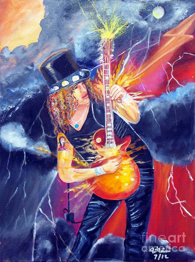 Slash 3 Painting  - Slash 3 Fine Art Print