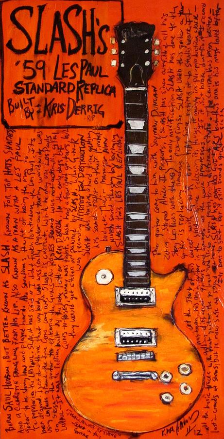 Slash Les Paul Replica Painting