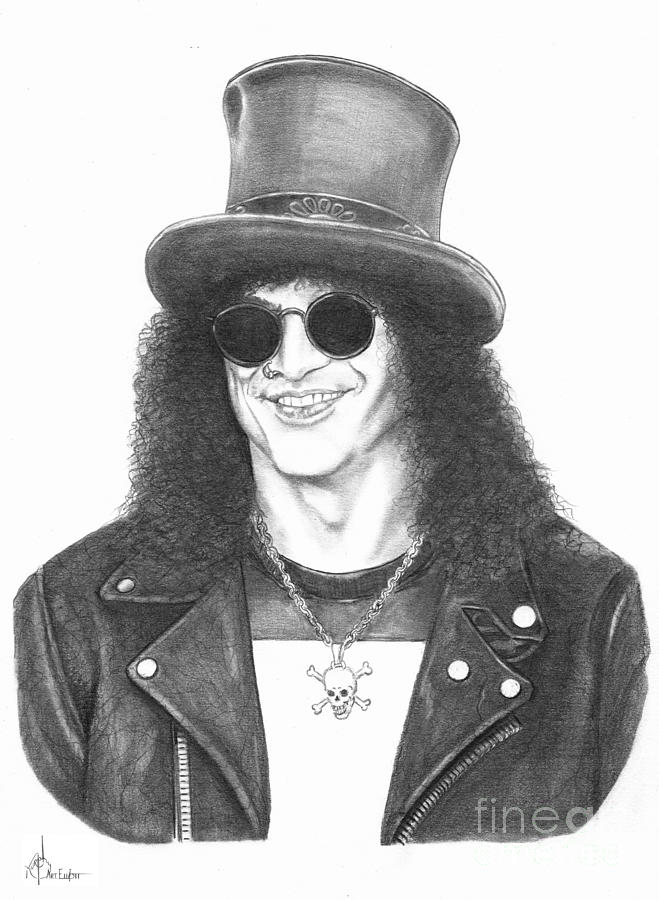 Slash Drawing  - Slash Fine Art Print