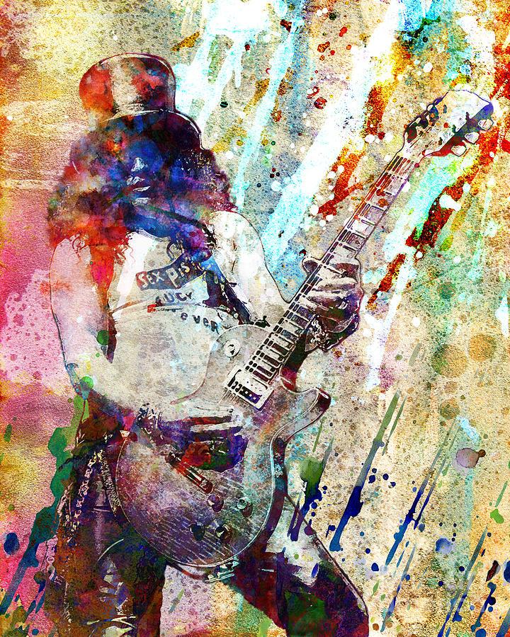 Slash Original  Painting