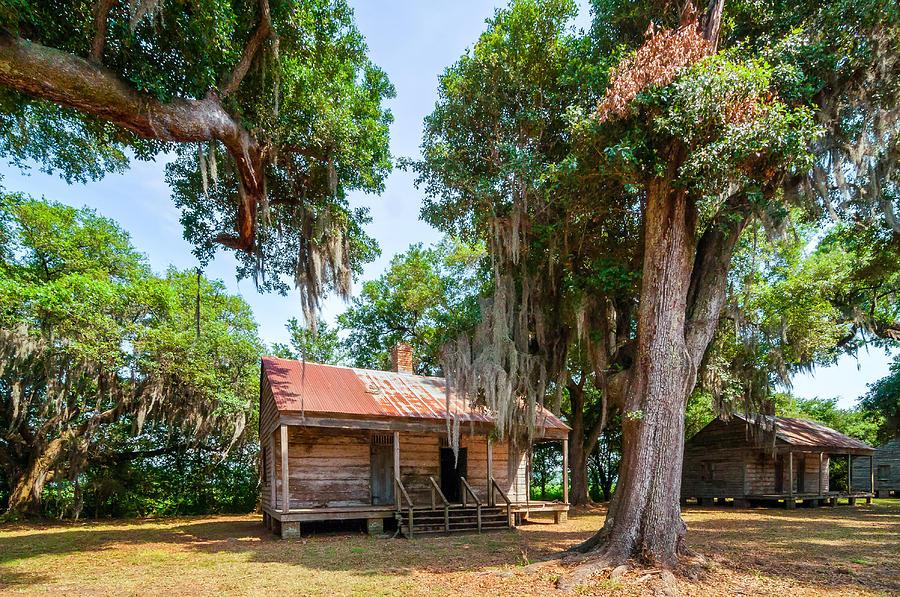 Evergreen Plantation Photograph - Slave Quarters 2 by Steve Harrington