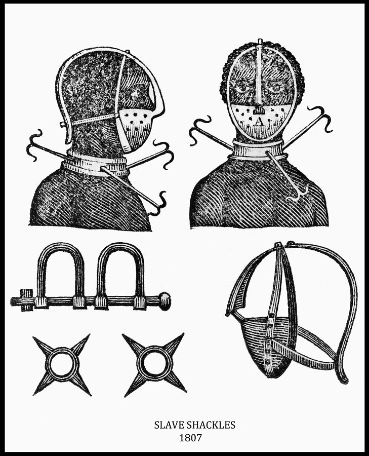 Slave Restraints  1807 Photograph  - Slave Restraints  1807 Fine Art Print