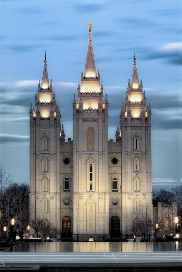 Slc Temple Blue Photograph