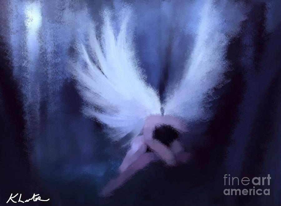 Sleeping Angel Painting Fine Art Print