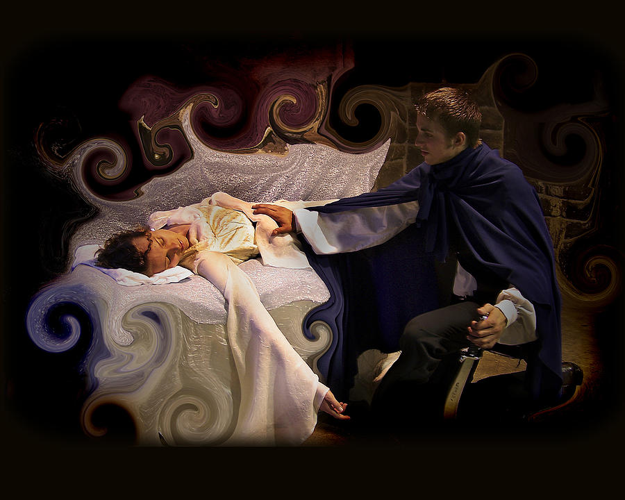 Sleeping Beauty And Prince Photograph  - Sleeping Beauty And Prince Fine Art Print
