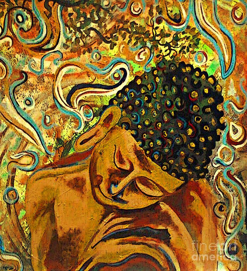 Sleeping Buddha Two Painting