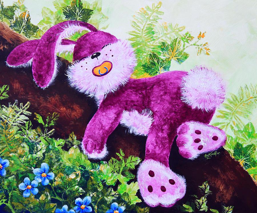 Sleeping Bunny Painting