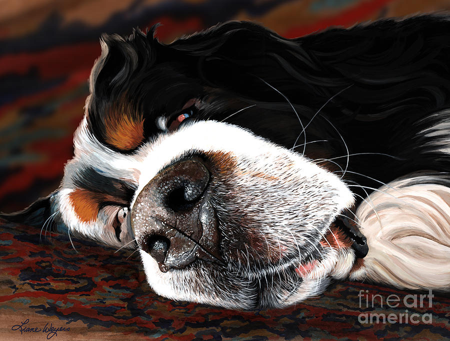 Sleeping Dogs Lie Painting  - Sleeping Dogs Lie Fine Art Print