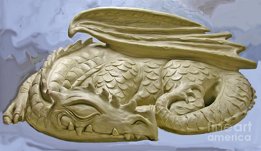 Sleeping Dragon Sculpture