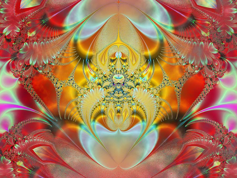 Abstract Digital Art - Sleeping Genie by Ian Mitchell