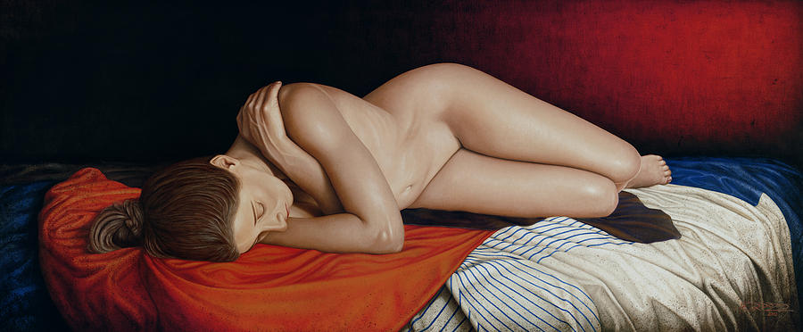 Sleeping Nude Painting  - Sleeping Nude Fine Art Print