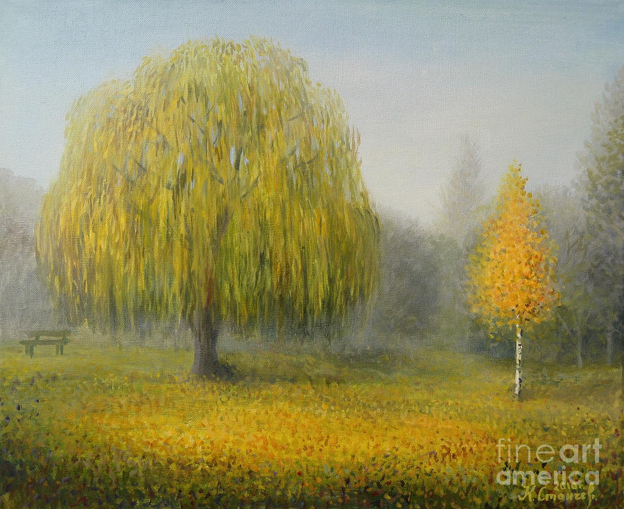 Sleepy Morning Painting  - Sleepy Morning Fine Art Print