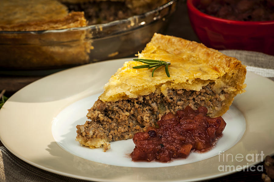 Meat Pie Photograph - Slice Of Meat Pie Tourtiere by Elena Elisseeva