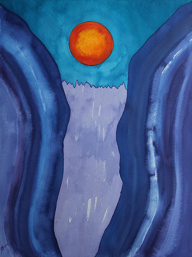 Slot Canyon Painting - Slot Retablo Original Painting by Sol Luckman