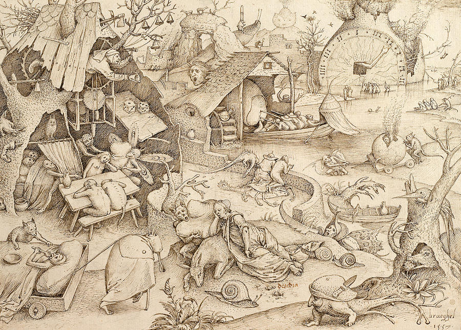 Sloth Pieter Bruegel Drawing Drawing  - Sloth Pieter Bruegel Drawing Fine Art Print