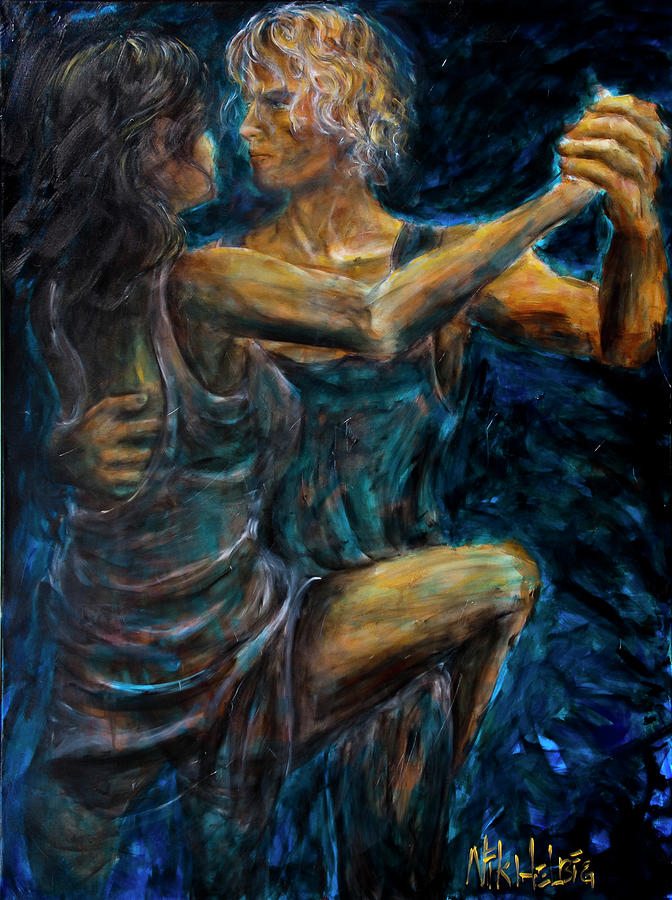 Slow Dancing II Painting  - Slow Dancing II Fine Art Print