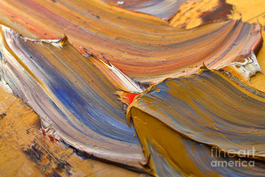 Smeared Paint Photograph