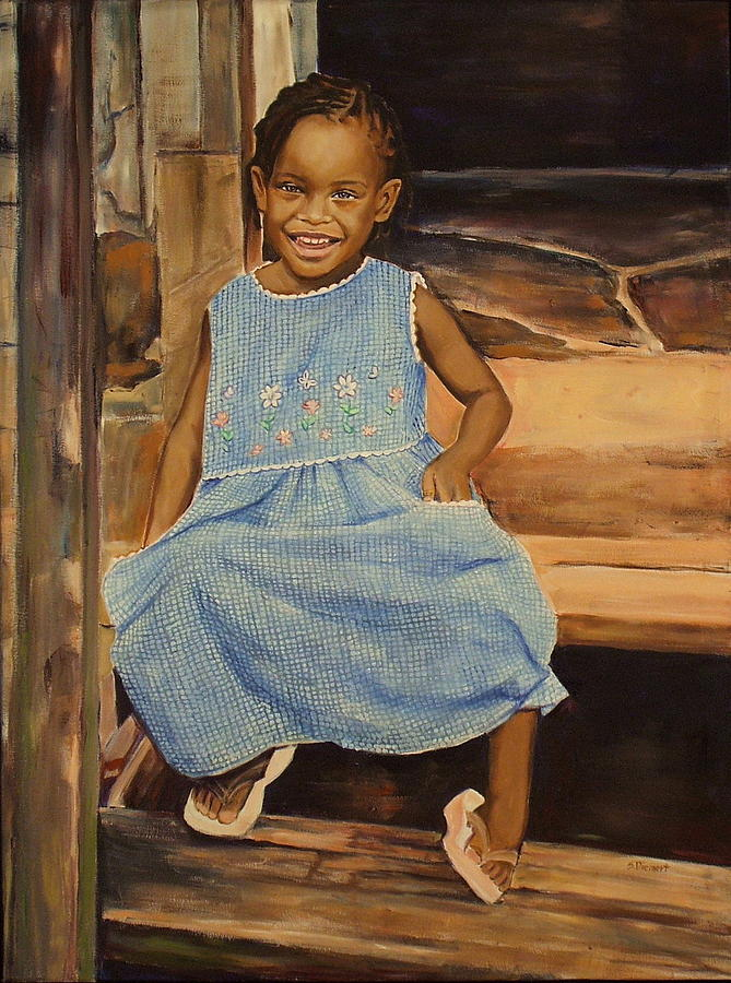 Smile From Honduras Painting  - Smile From Honduras Fine Art Print