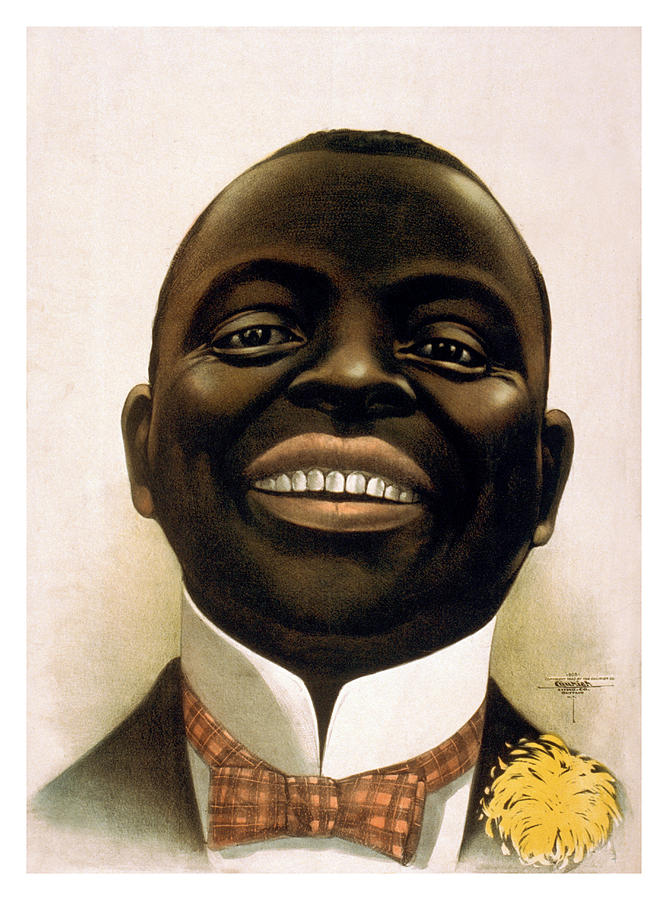 Smiling African American Circa 1900 Painting