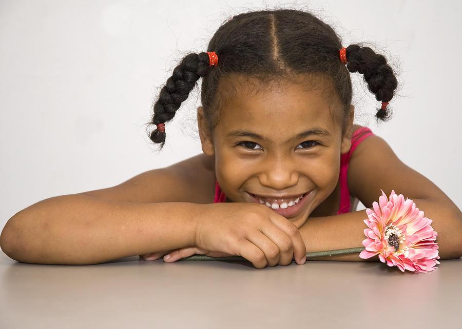 Girl Photograph - Smiling Pretty by Carolyn Marshall