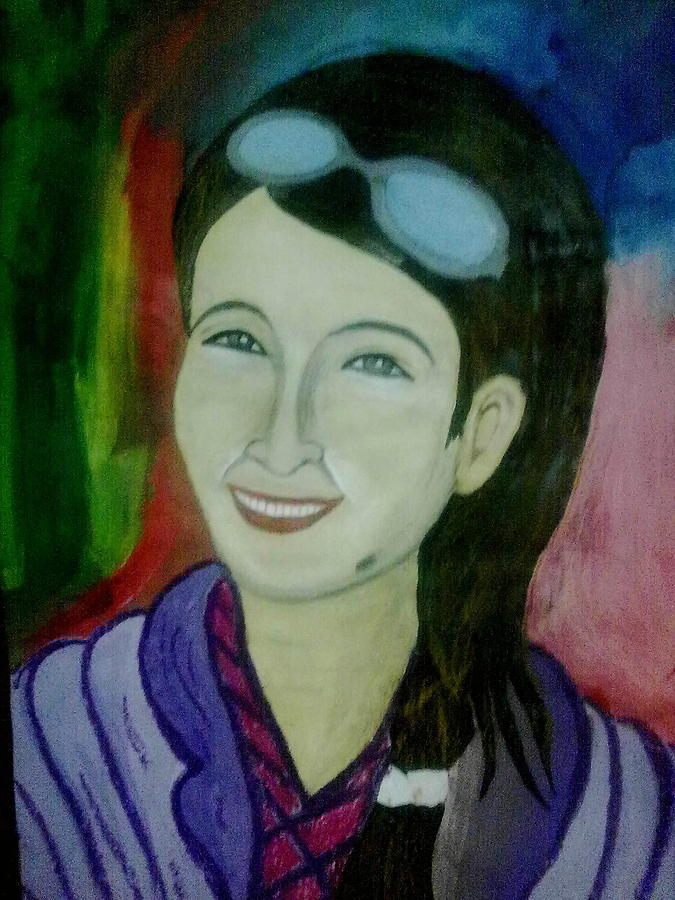 Painting - Smiling by Syeda Ishrat