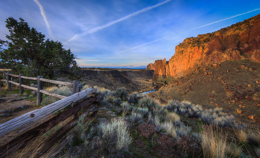 Smith Rock At Sunrise Photograph